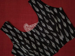 Blouse - Ikkat - Cotton - Black