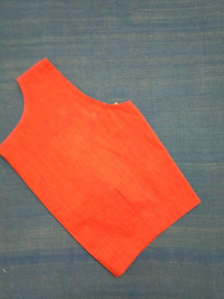 Blouse - Handloom - Mangalagiri Cotton - Orange