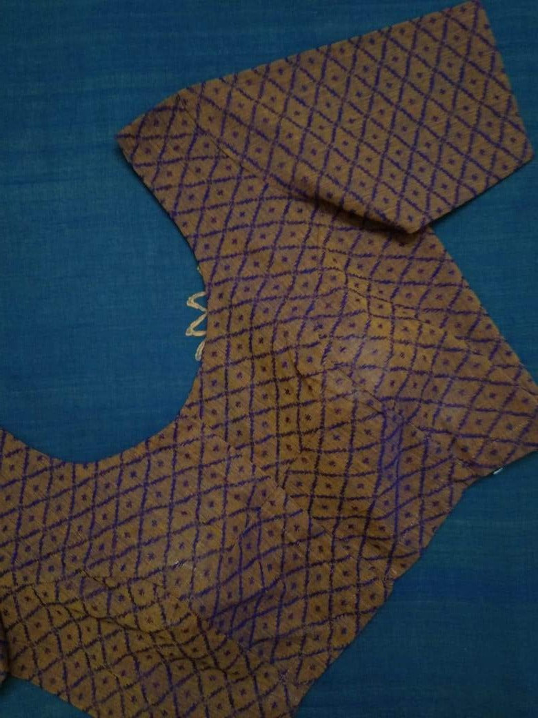 Blouse - Jacquard - Cotton - Brown