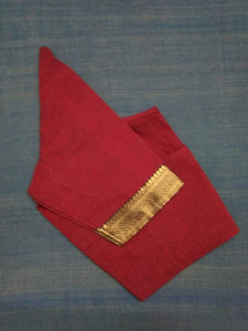 Blouse - Handloom - Mangalagiri Cotton - Maroon