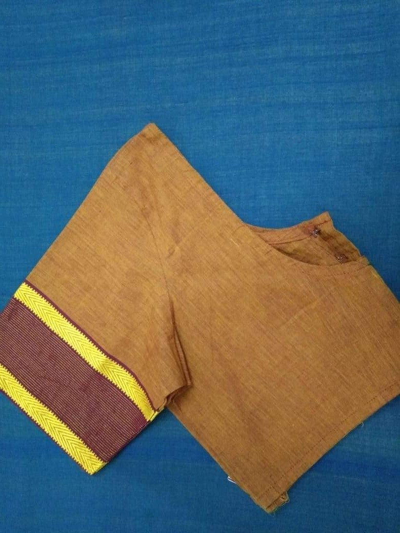 Blouse - Hand loom - Cotton - Brown