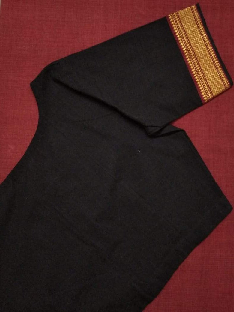 Blouse - Handloom - Mangalagiri Cotton - Black