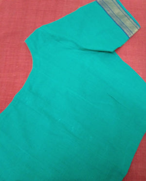 Blouse - Handloom - Mangalagiri Cotton - Teal