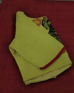 Blouse - Printed - Cotton - Lime Green