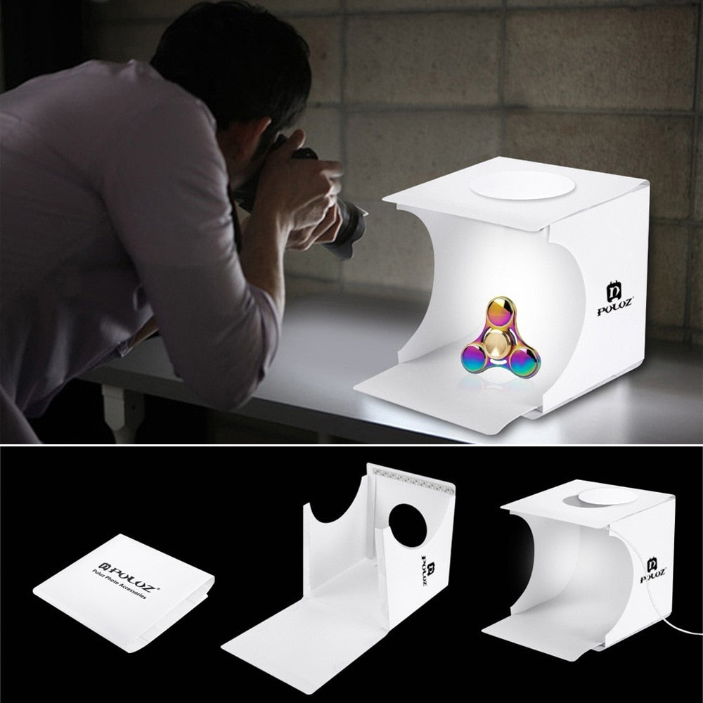 Dual LED Panels Folding Portable Photo Studio