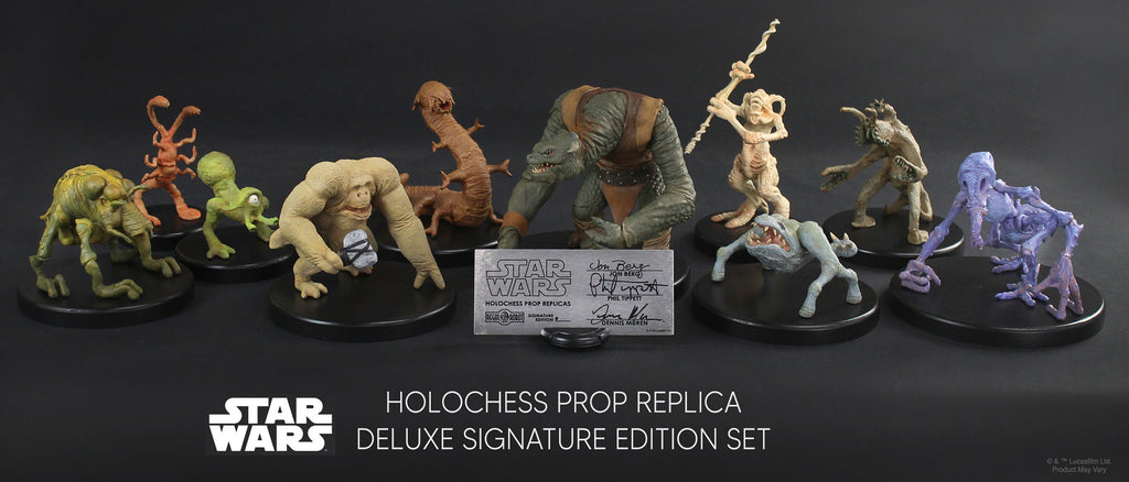 STAR WARS: 1:1 HOLO CHESS SET, signed by key members of the film crew. Entire edition (of only 77 total!) sold out on first day of sale. Only 1 set available — SILENT AUCTION!