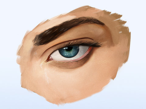 The Eye Tutorial For Digital Painting By Dan LuVisi