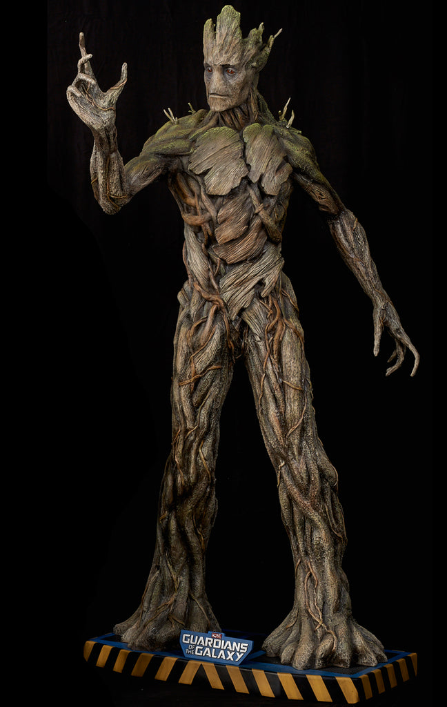 guardians of the galaxy groot life size statue section9