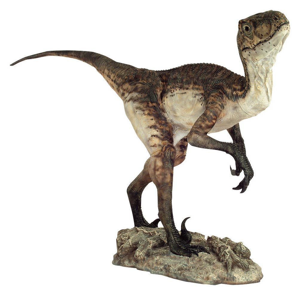 Dinosaurs: VELOCIRAPTOR / DEINONYCHOS 2 (Closed Jaw) - Life-size Collectible Statue