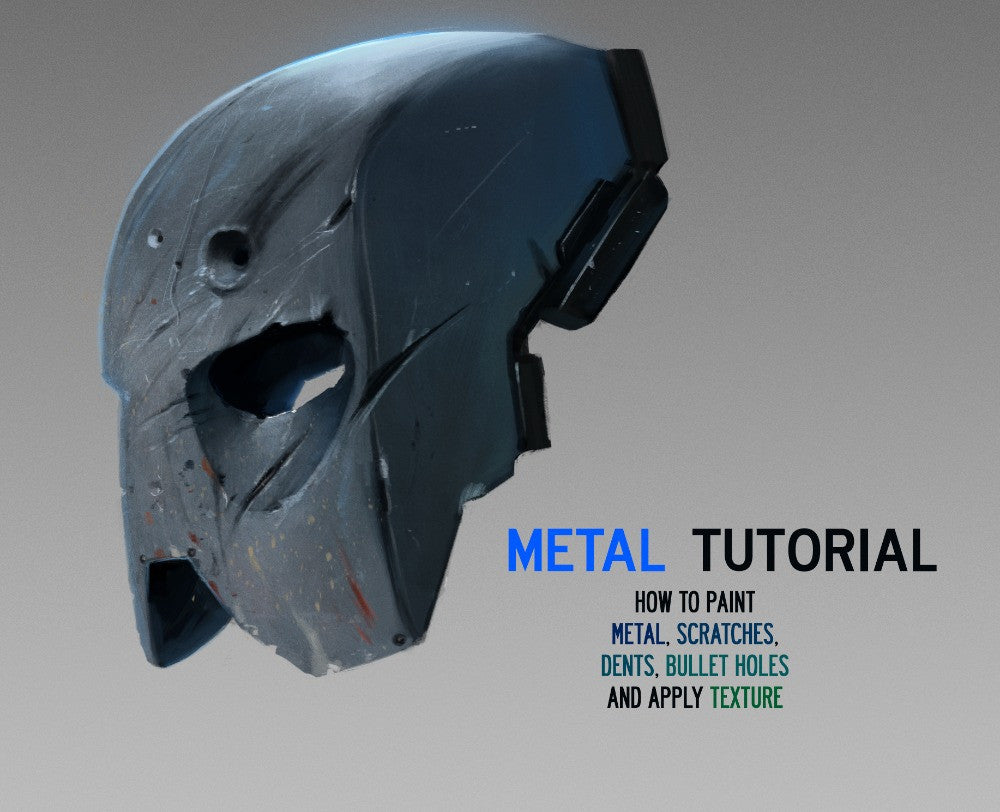 The Metal Tutorial For Digital Painting By Dan LuVisi