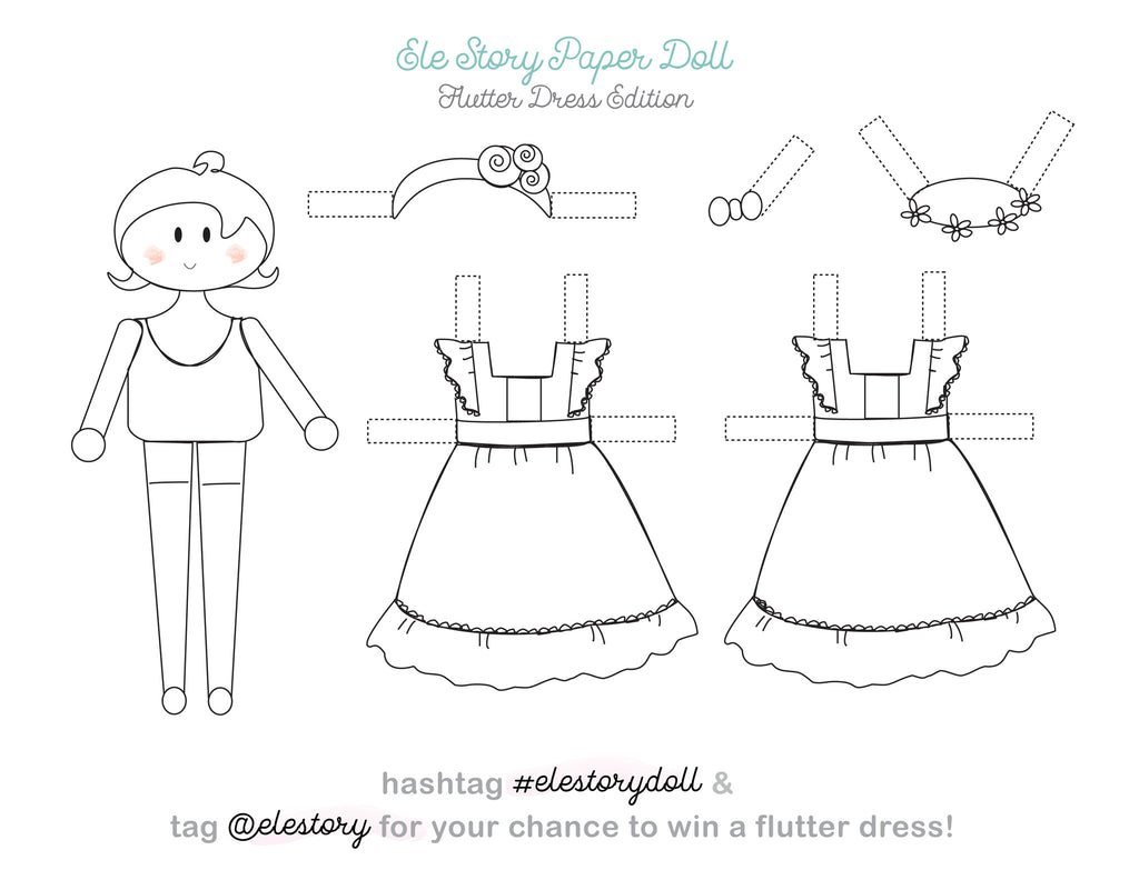 Ele Story Paper Doll Coloring Contest