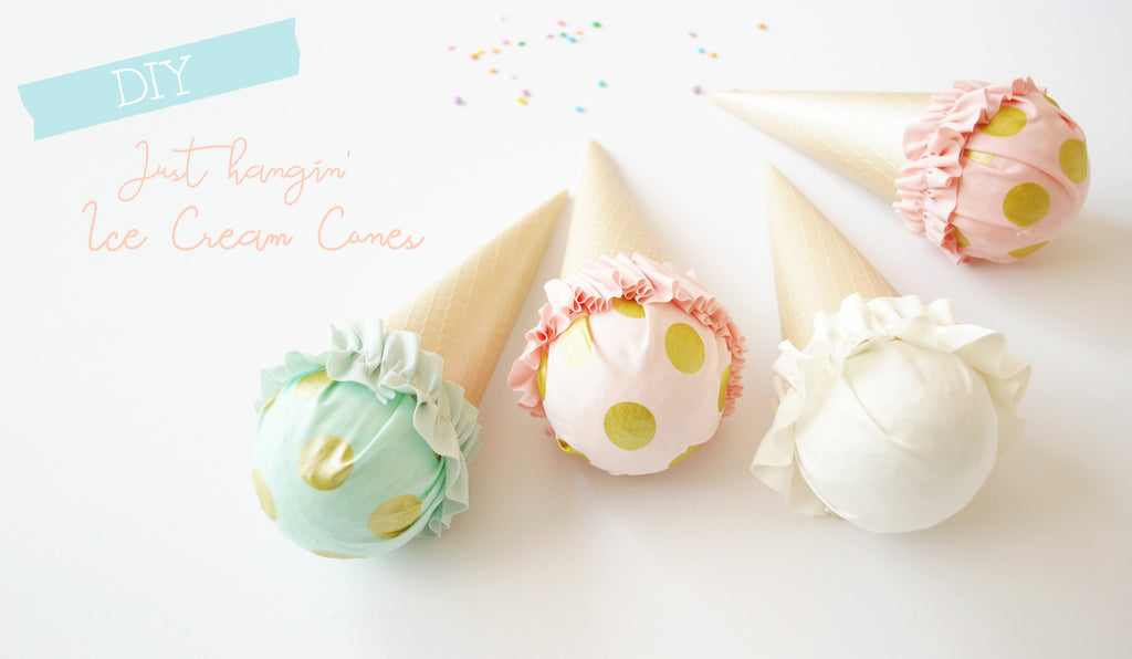 DIY (Hangin') Ice Cream Cone Decoration: I Scream, You Scream, June is Turning FIVE! (Part 1)