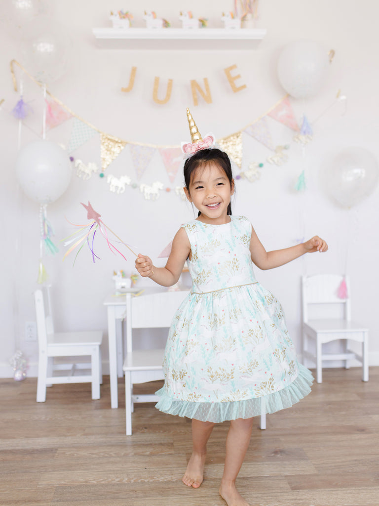 A Magical Unicorn Birthday Tea Party! (June turns 6!)