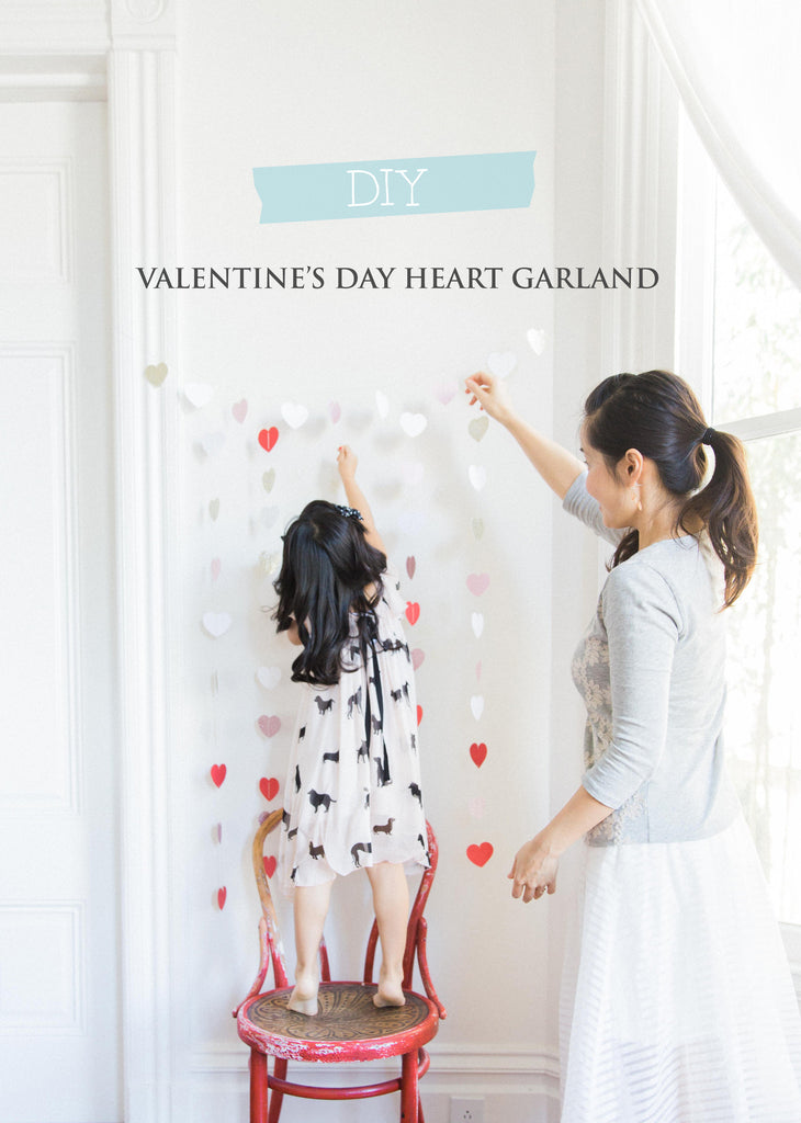 Valentine's Day Heart Garland DIY Project