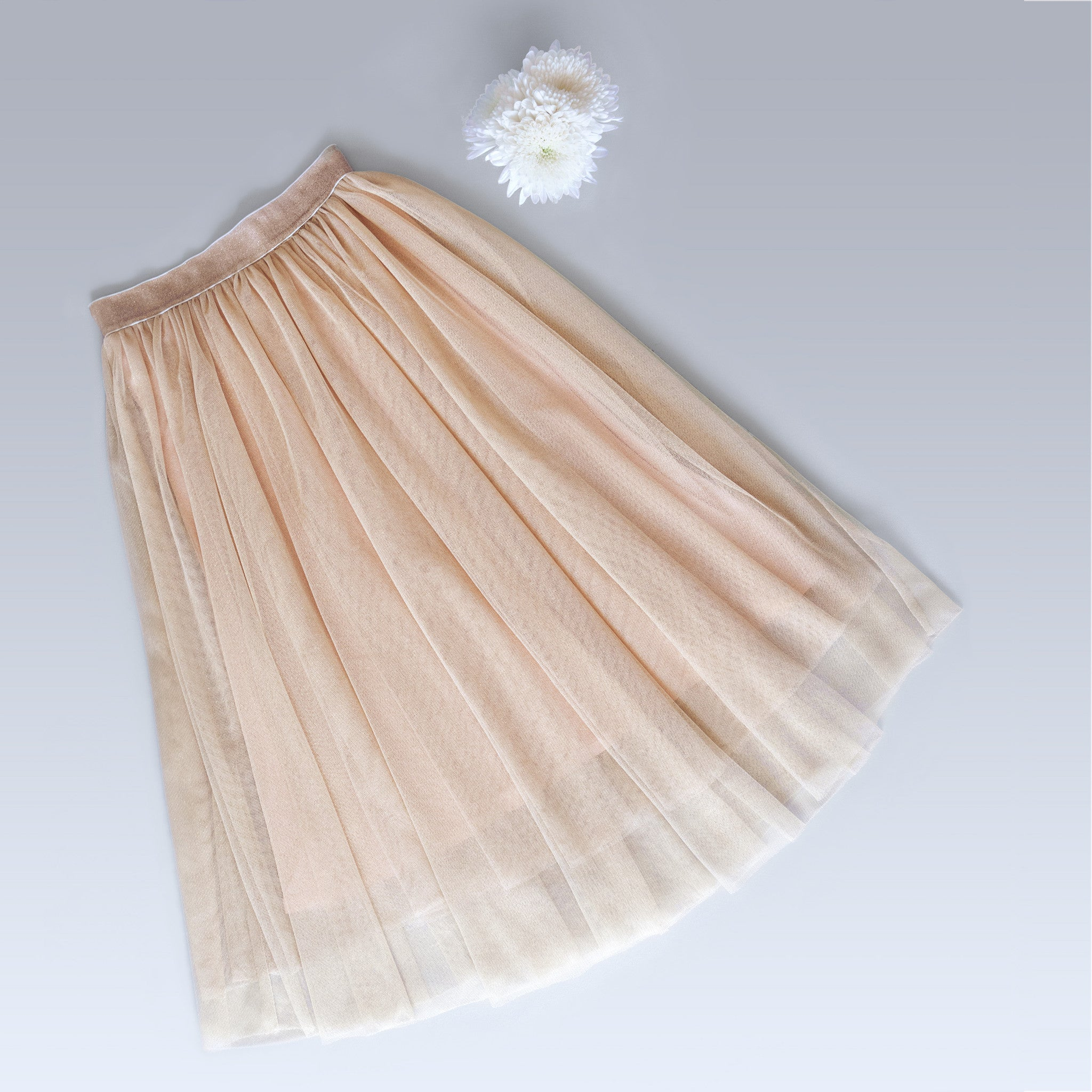 Twirly Tulle Skirt (Women) - Gold Lurex (FINAL SALE - Size S & M Only)
