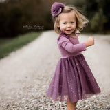 Ballerina Dress - Amethyst (FINAL SALE - Size 6/9m Only)