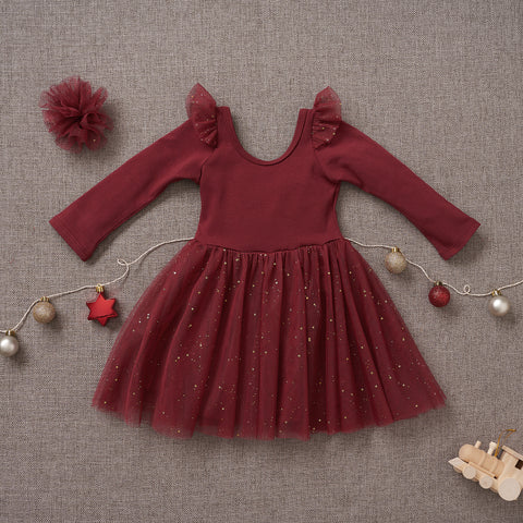 Ballerina Dress - Winterberry (Size 6/9m & 12/18m Only)