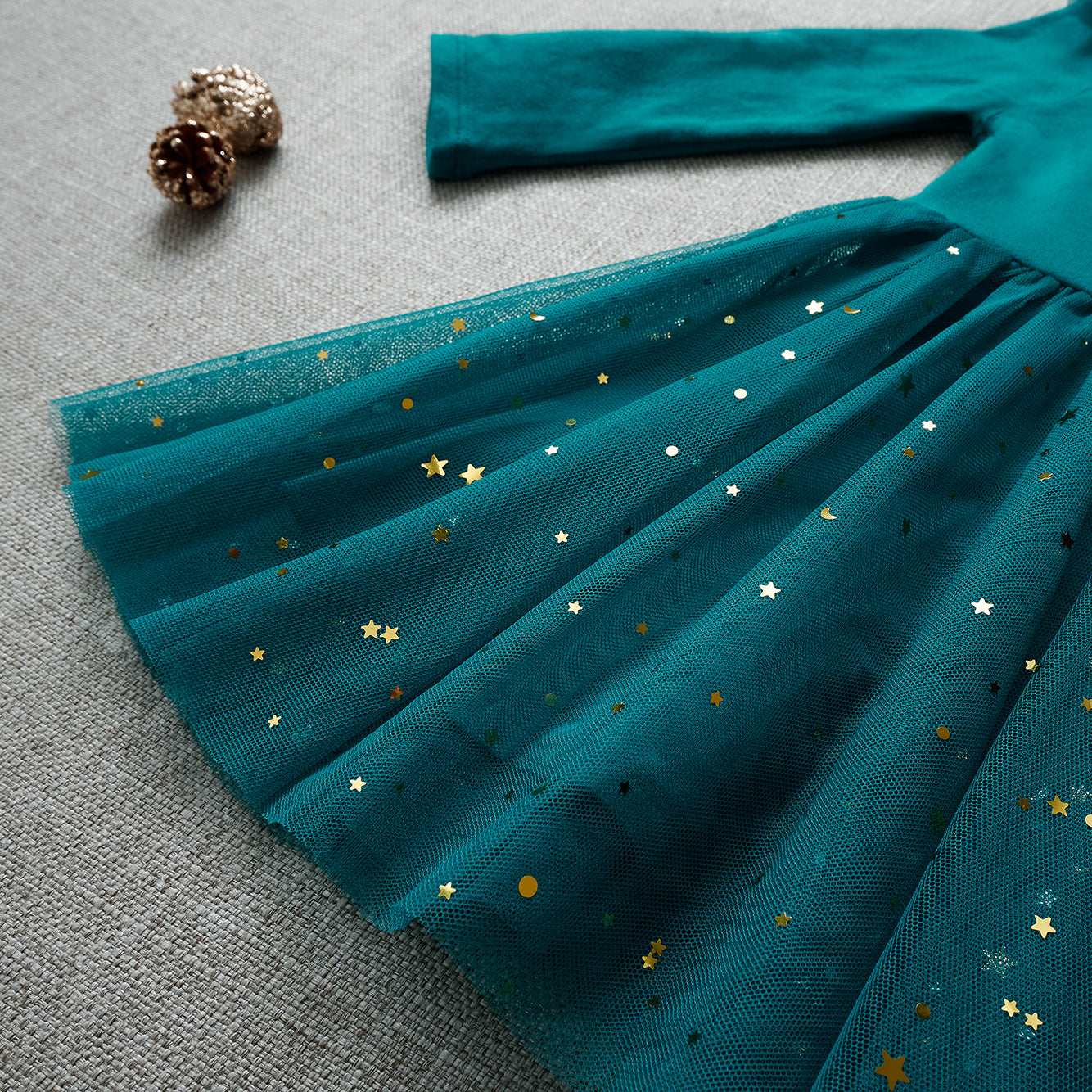Ballerina Dress - Peacock Blue