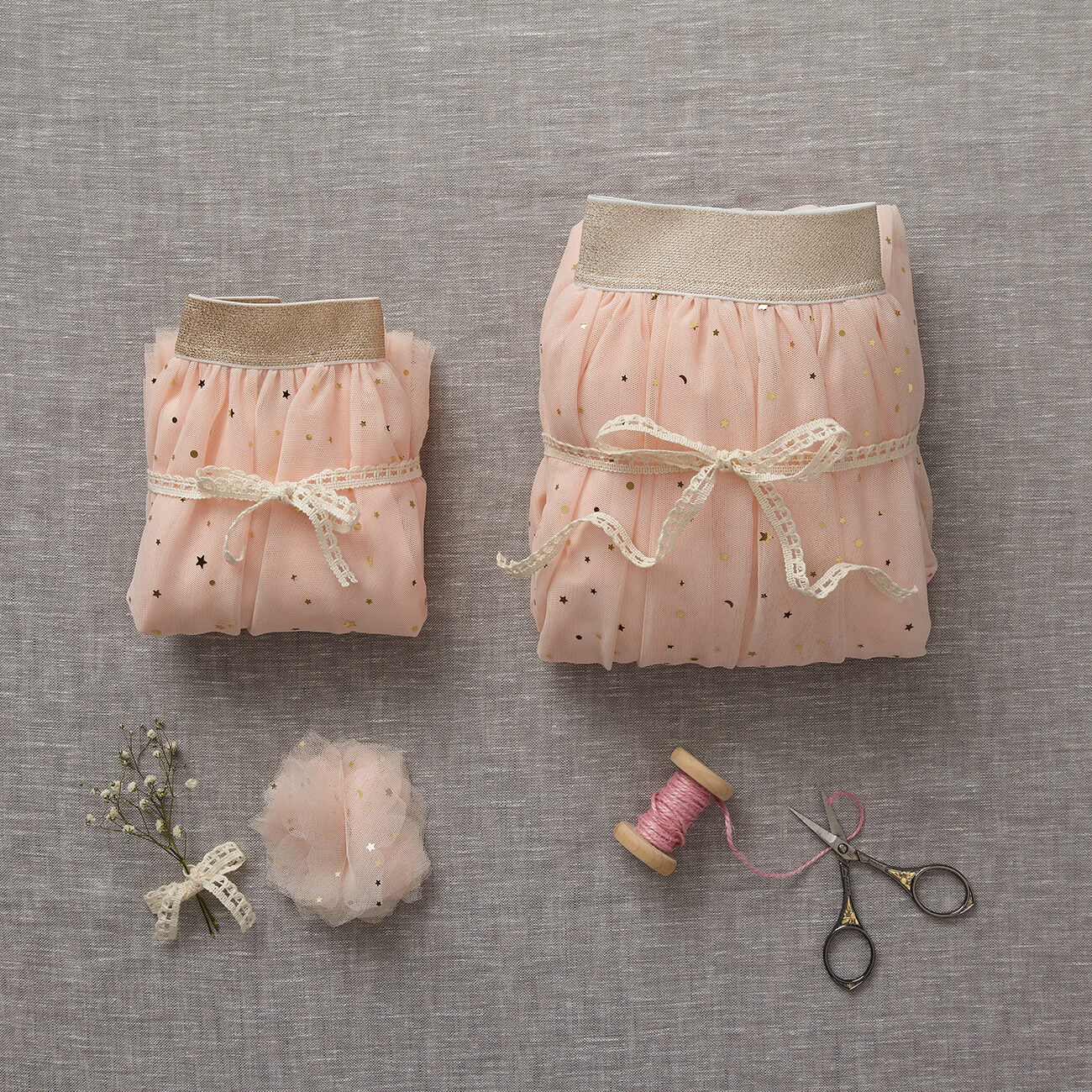 Tulle Flower Clip - Just Peachy