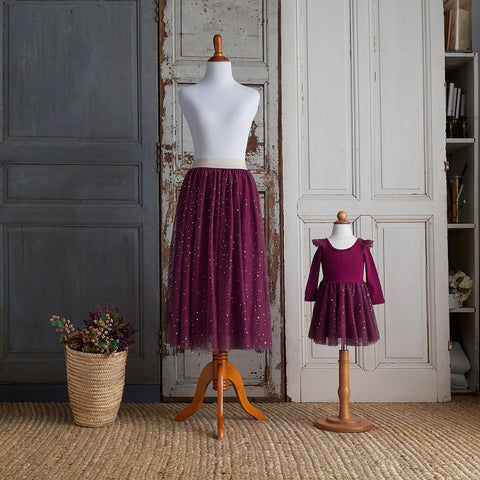 Twirly Tulle Skirt (Women) - Raspberry Jam