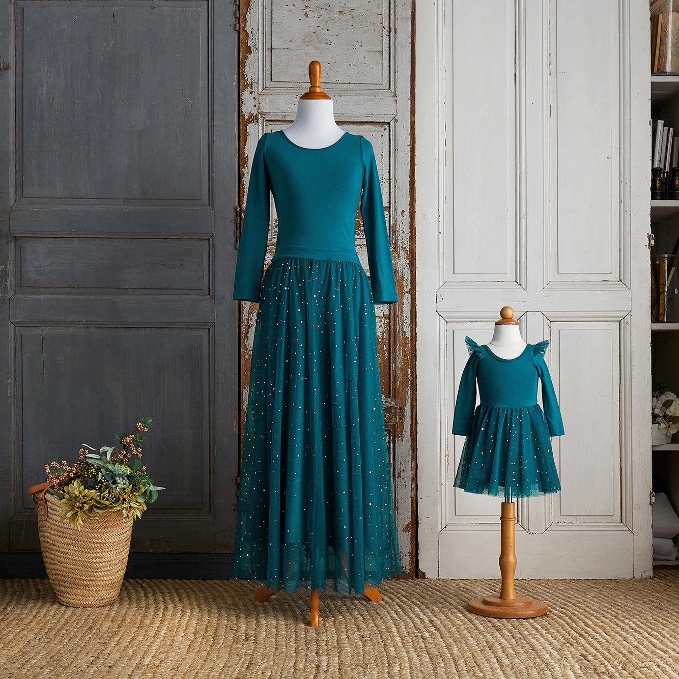 Ballerina Dress (Women) - Peacock Blue