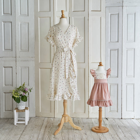 That's a Wrap! Dress (Women) - Cream Floral (Size XS & XL Only)