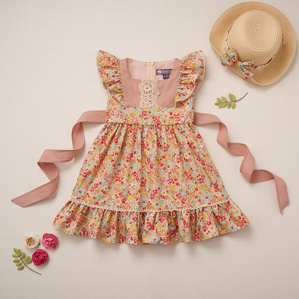 Flutter Dress - Strawberry Blossom