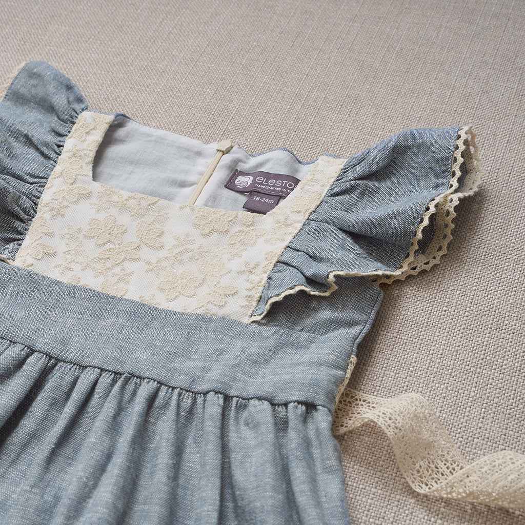 Flutter Dress - Chambray Linen
