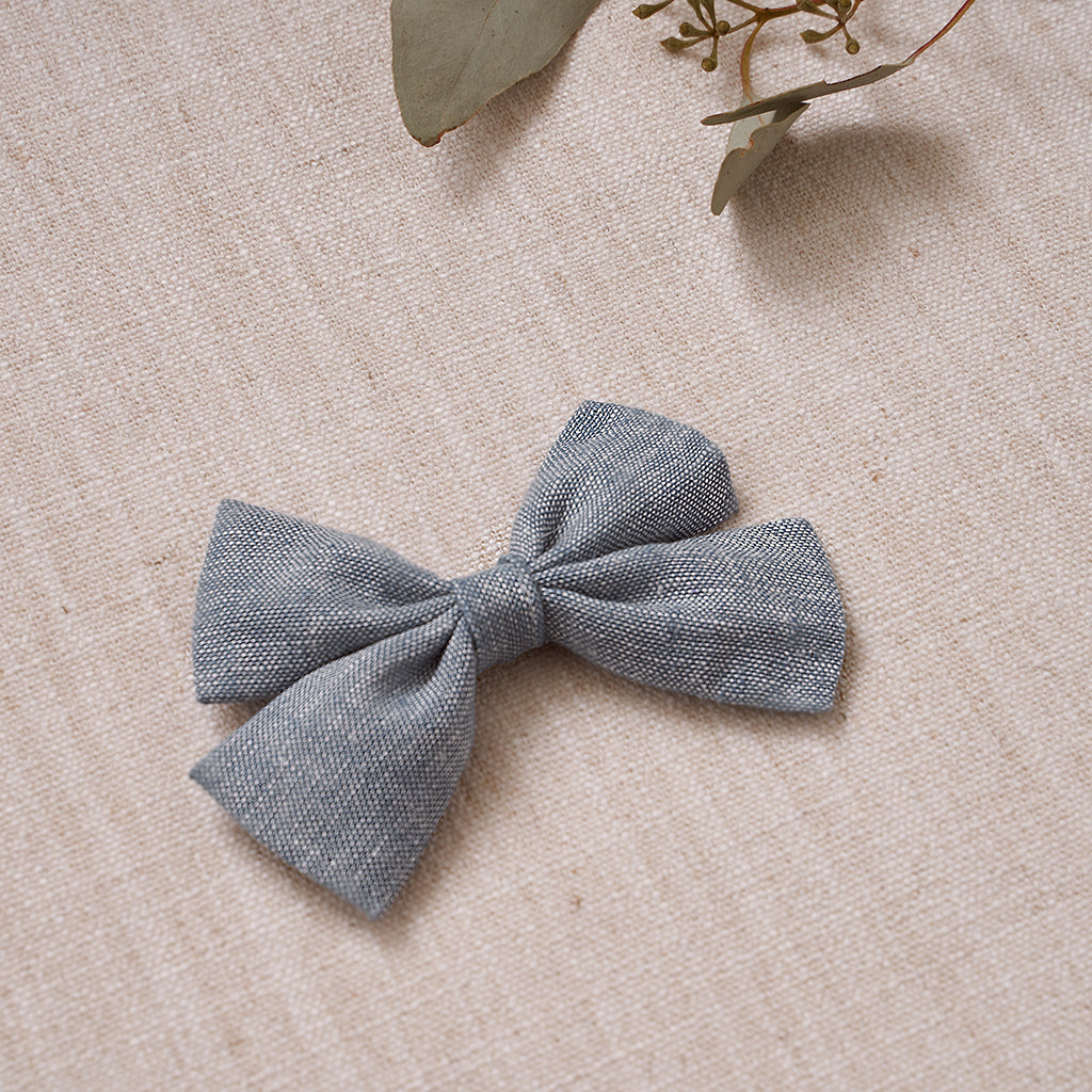 Criss-Cross Bow - Chambray Linen
