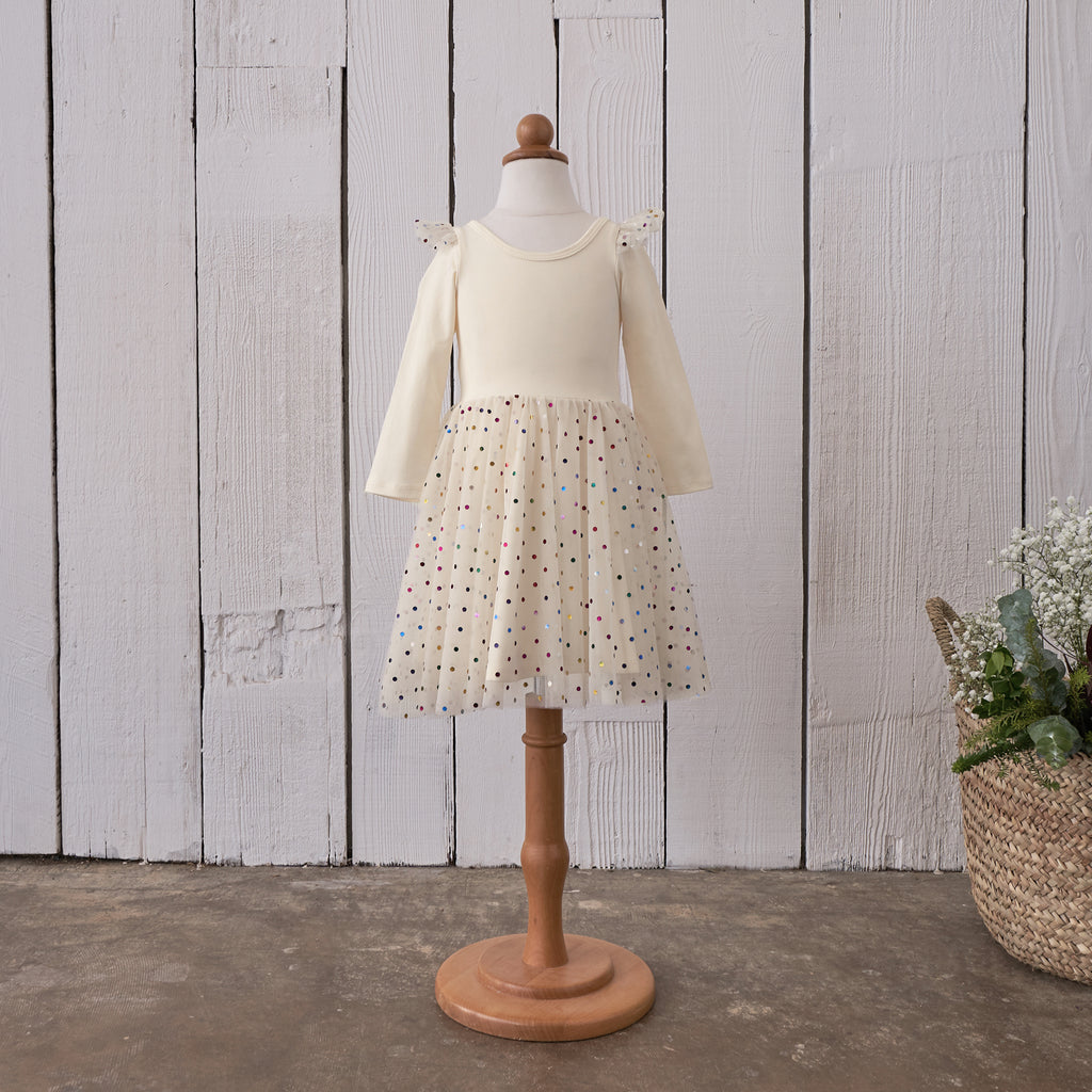 Ballerina Dress - Ivory Confetti