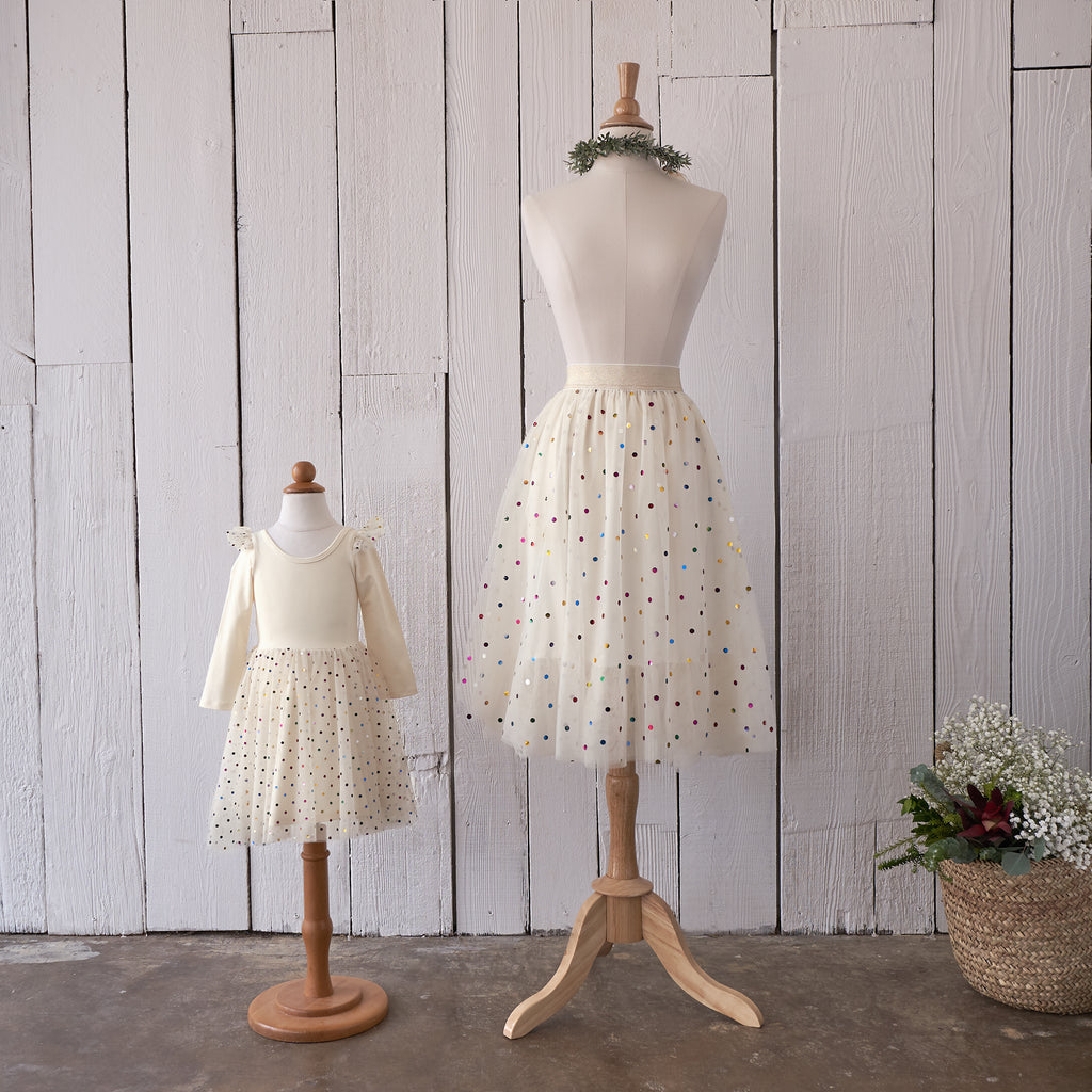 Ballerina Midi Skirt (Women) - Ivory Confetti (FINAL SALE)