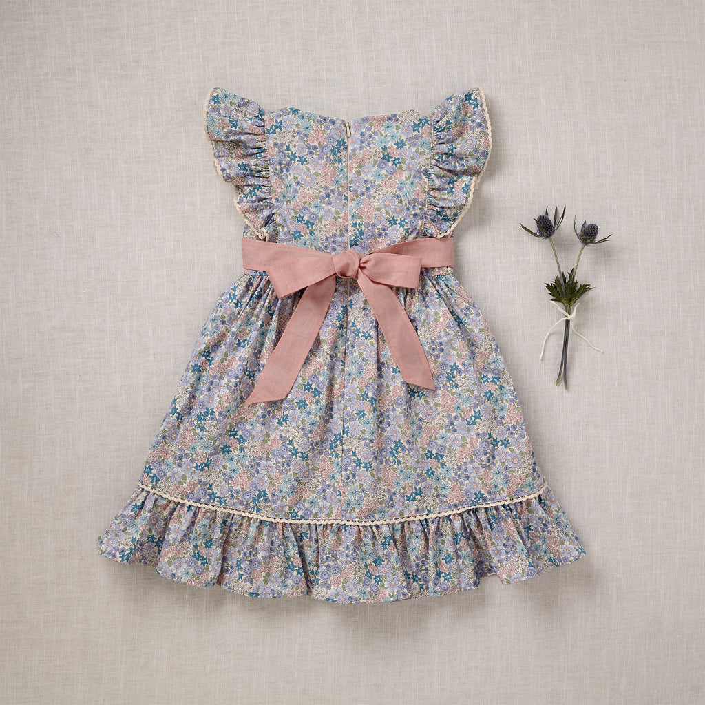 Flutter Dress - Blue Bouquet