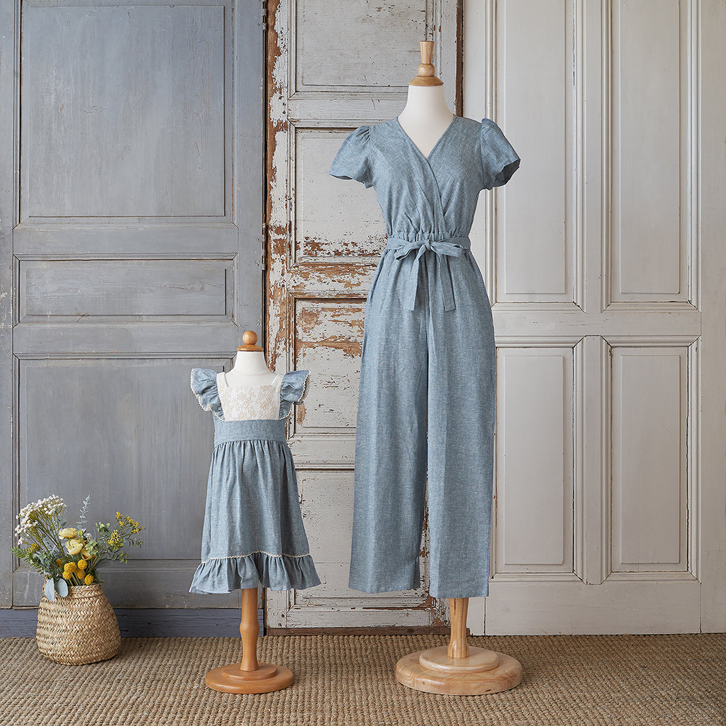Women's Jumpsuit - Chambray Linen
