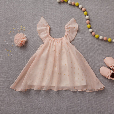 Little Gems Dress - Pink Sapphire (Final Sale - Sizes 12Y Only)