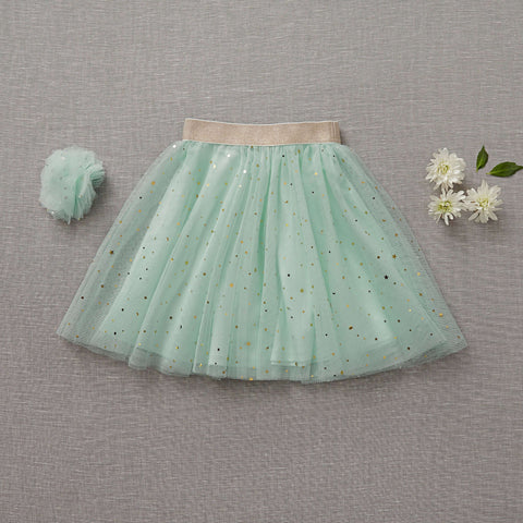 Twirly Tulle Skirt - Mint-To-Be (Final Sale - Size 2/3T Only)