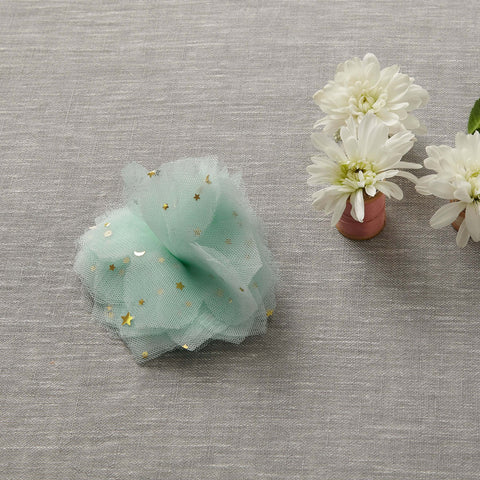Tulle Flower Clip - Mint-To-Be