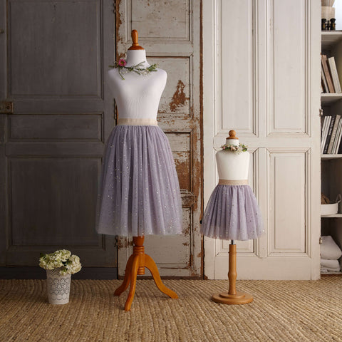 Midi Tulle Skirt (Women) - Lilac (Size XS Only)