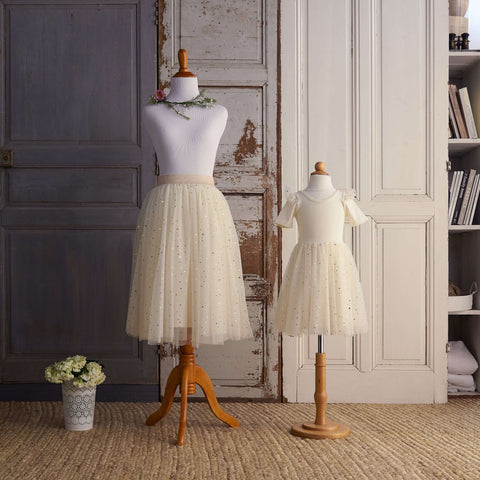 Midi Tulle Skirt (Women) - Marshmallow (Sizes M & XL Only)