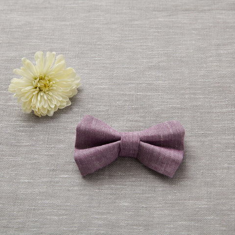 Bow Tie - Lavender Linen (FINAL SALE)