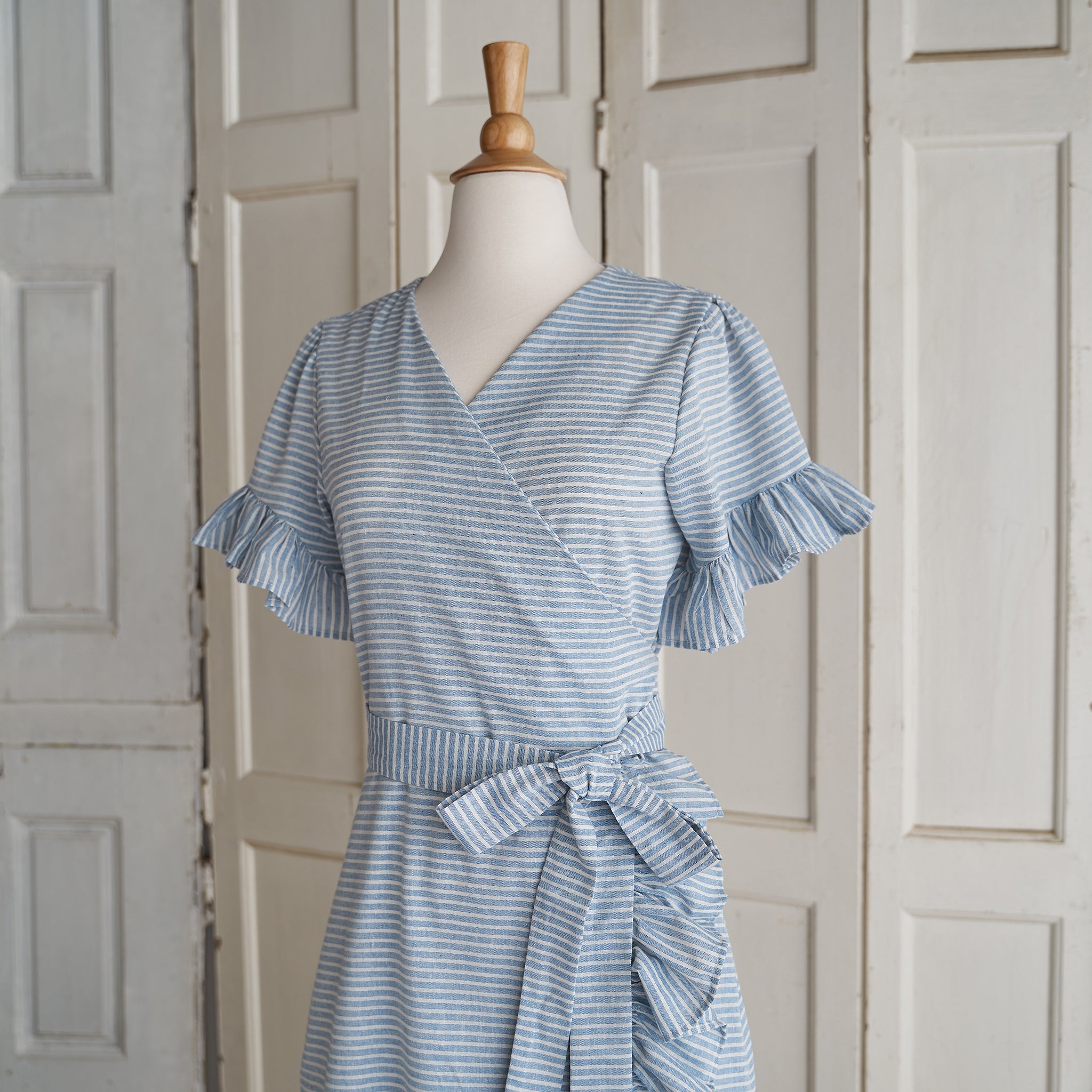 That's a Wrap! Dress (Women) - Striped (Size XS & S Only)