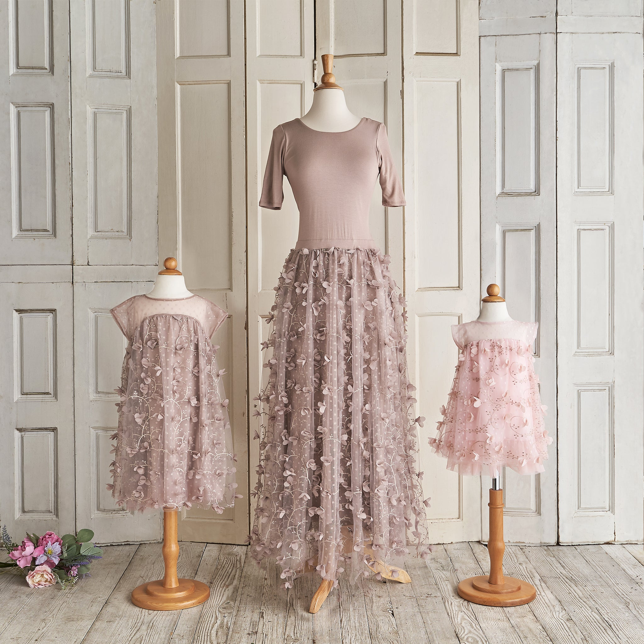 Petals Ballerina Dress (Women) - Taupe (FINAL SALE)