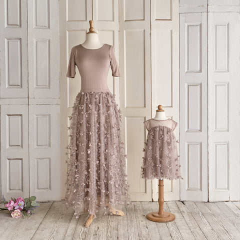 Petals Ballerina Dress (Women) - Taupe