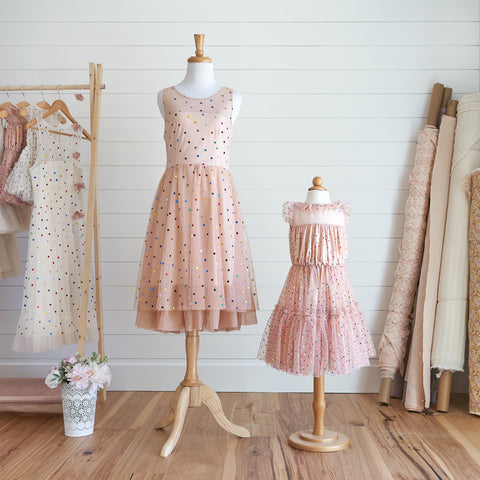 Confetti Dress (Women) - Peach