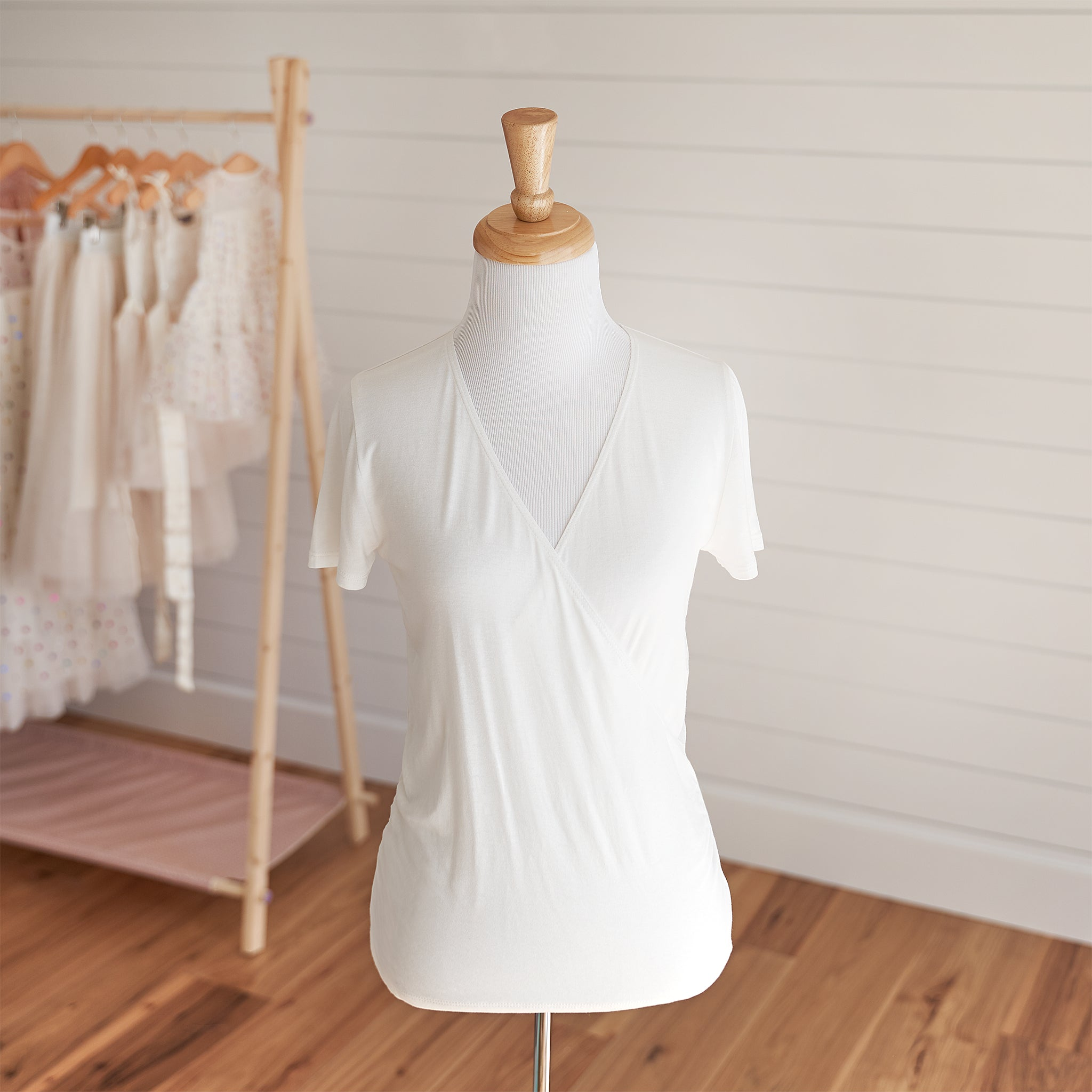 Ballet Wrap Top - Ivory (FINAL SALE)