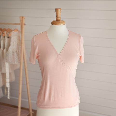Ballet Wrap Top - Blush