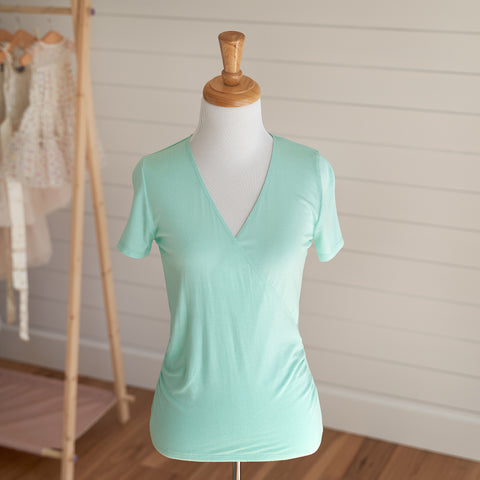 Ballet Wrap Top - Jade (FINAL SALE - Size XL Only)