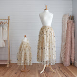 Princess Maxi Skirt (Women) - Pearl