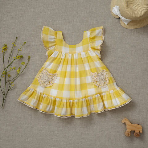 Lil' House on the Prairie Dress - Sunflower Yellow