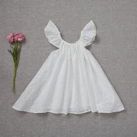 Falling Petals Dress - White (Rare Edition)