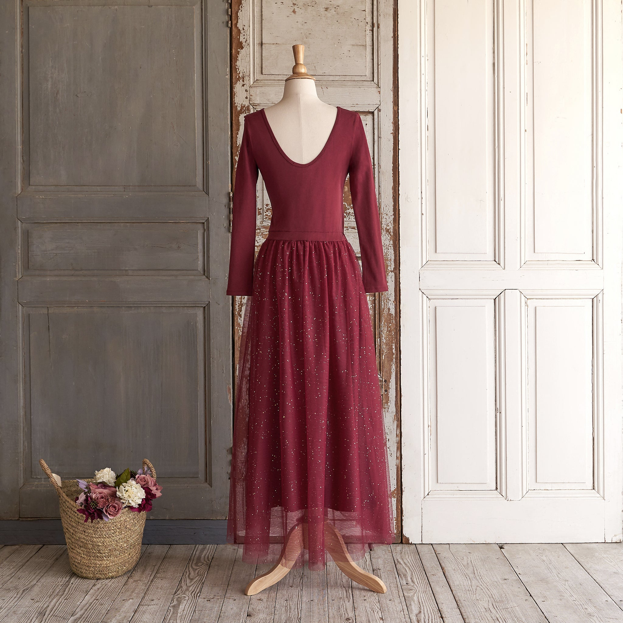 Ballerina Dress (Women) - Winterberry